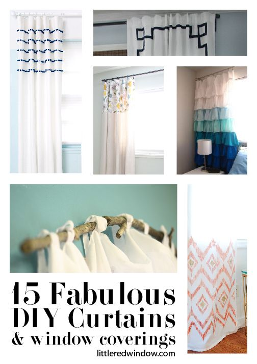 15 Fabulous DIY Curtains, Shades and Window Coverings   littleredwindow.com