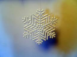 Billedresultat for snefnug med hama perler