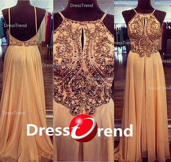 long prom Dress - holiday prom dresses, Chiffon Beading evening dress,plus size party dress/girls party dress/Prom/party Dresses 2014 on Etsy, $199.99