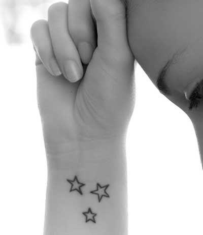 Tatuagens de Estrelas: no Pulso, na Perna, no Ombro