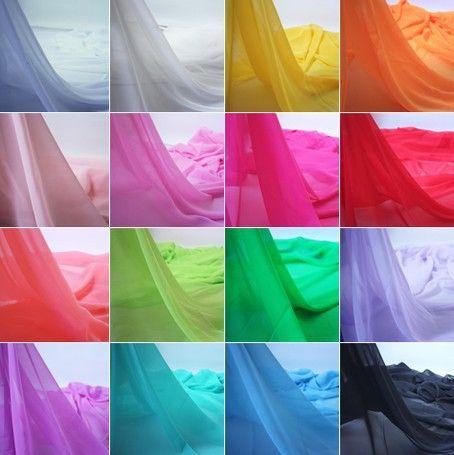 614 100% полиэстер чистый шифоновая ткань много цветов для