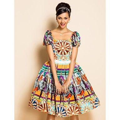 TS Ethnic Print Swing Dress – USD $ 30.00