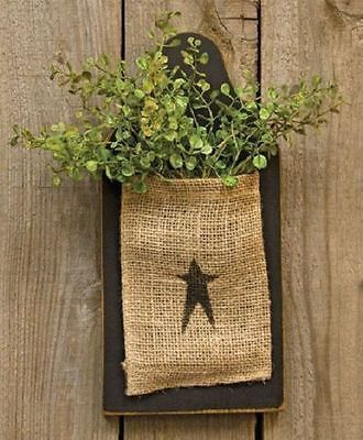 Black Cutting Board with Burlap Bag Country Primitive Wall Hanging Decor