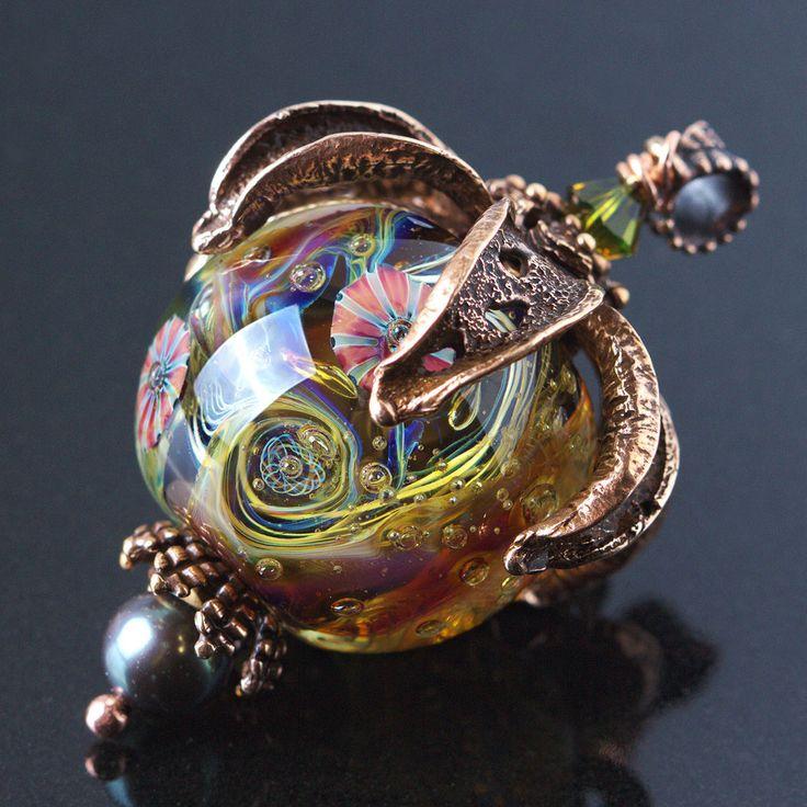 """Купить Кулон """"Звездопад"""" - разноцветный, кулон, шар, подарок девушке, Анна Черных, авторское украшение"""