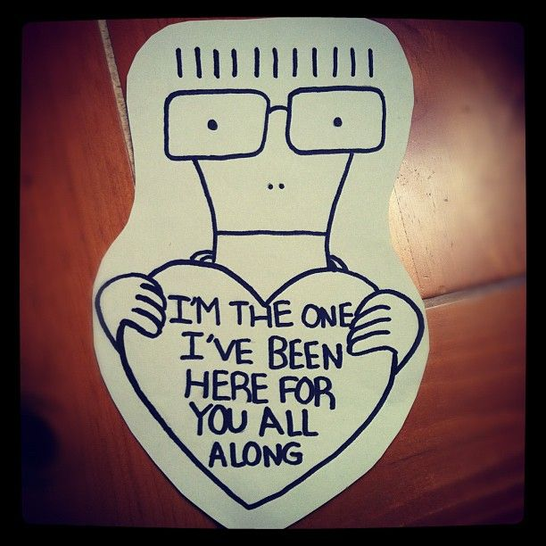 The best valentine I've seen. I don't want to grow up. (Descendents)