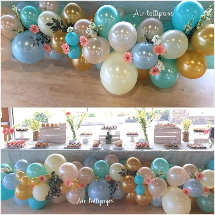 Balloon arch with flowers by Airlollipops (@airlollipops) on Instagram