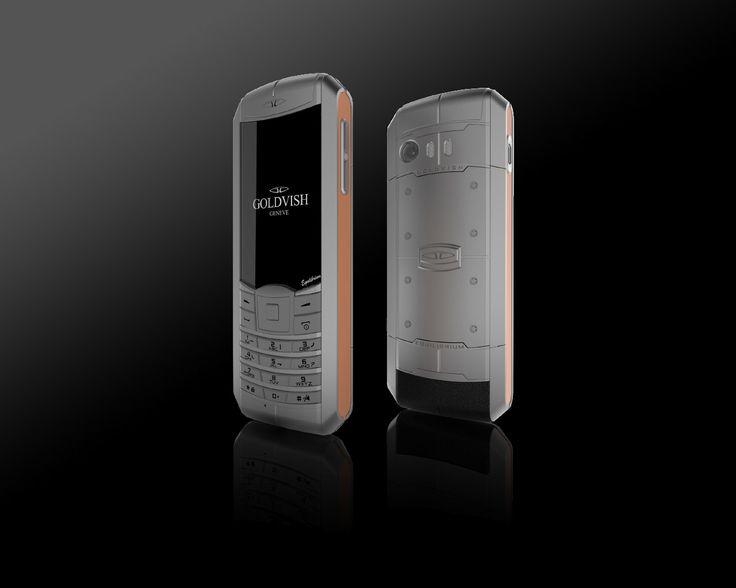 Goldvish Equilibrium - Grey Peach,   Grey metal with orange frame,  MSRP: €5.990,-