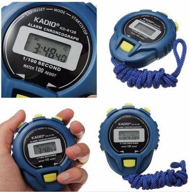 LCD Chronograph Digital Timer Stopwatch Sport Counter Odometer Watch Alarm