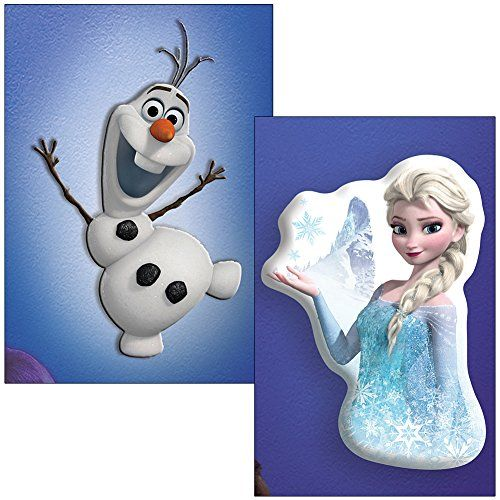 (Set) Disneys Frozen Olaf & Elsa Wall Friends - Lights Up & Talks @ niftywarehouse.com #NiftyWarehouse #Disney #DisneyMovies #Animated #Film #DisneyFilms #DisneyCartoons #Kids #Cartoons