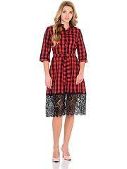 Платье-рубашка SALHAM  Стильное платье- рубашка безусловный тренд этого сезона отлично смотрится с легинсами. Платье прекрасно впишется в ваш повседневный и офисный гардероб.. Платье-рубашка SALHAM промокоды купоны акции.