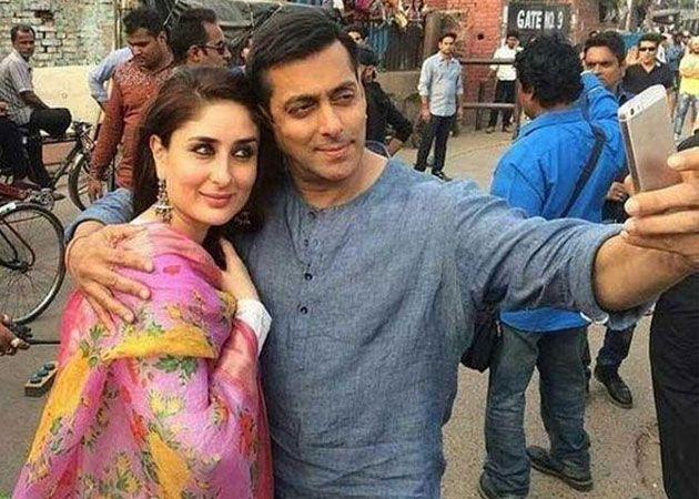 Salman and Kareena at the set of Bajrangi Bhai