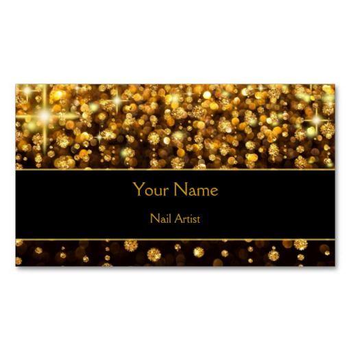 sparkle gold bokeh Business Card