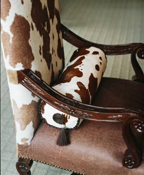 Pinto calf hair chair