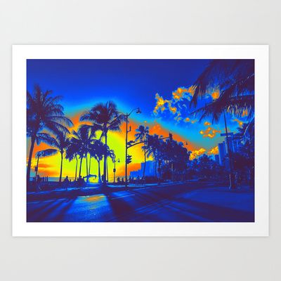 Blue Hawaii Art Print by Stoneriver - $17.68  LIVE ALOHA Art Print by Stoneriver - $15.00   #hawaii #sunset #romantic #vacation #travel #trip #silhouette #palmtree #nature #dusk #landscape #ocean #surfing #oahu #waikiki #waikikibeach #beach #tropical #typography #aloha #livealoha #colorful #happy #present