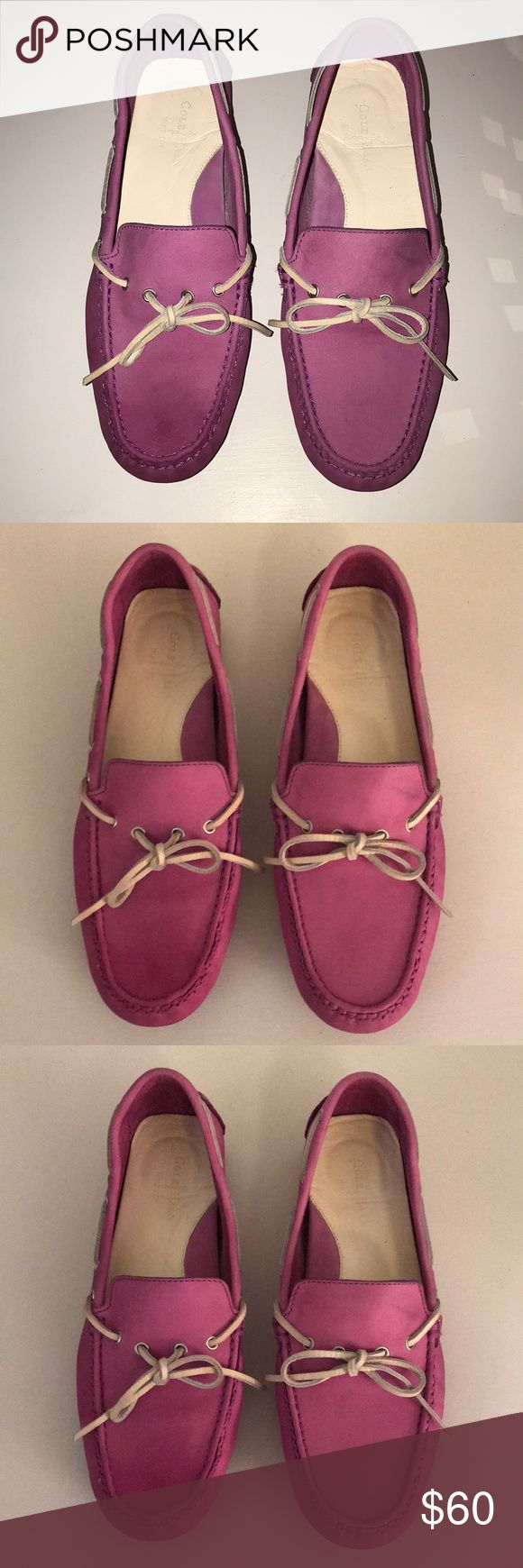 Cole Haan Purple Driving Moccasin Loafer 9.5M Cole Haan Purple (medium purple, covershot has closest color) Driving Loafers/moccasins in size 9.5M. These suede loafers have been maintained with suede cleaner on a regular basis.  Women's size 9.5M Cole Haan Shoes Flats & Loafers
