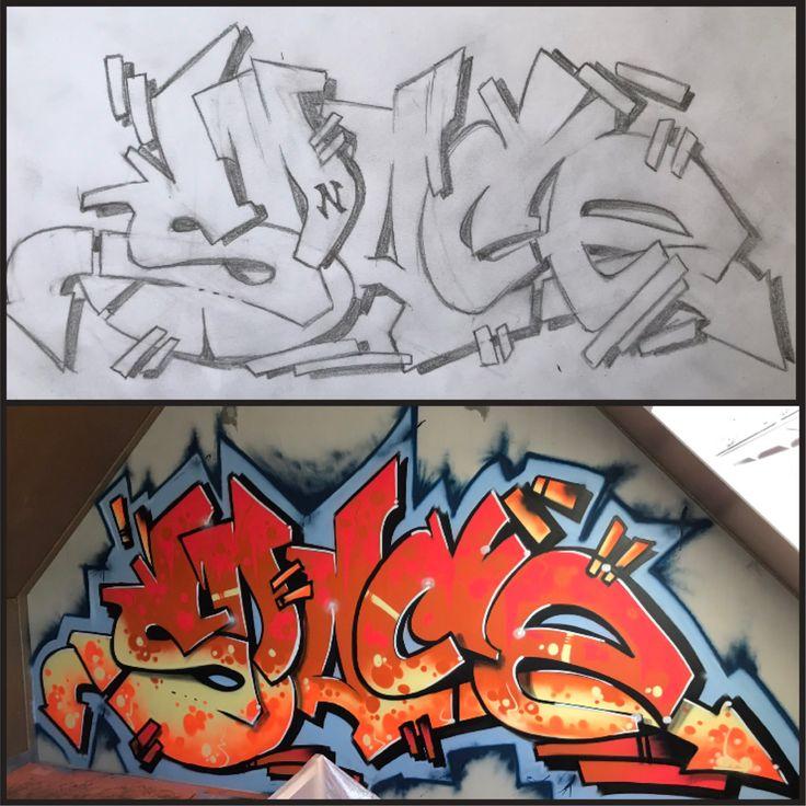 Надписью, как сделать граффити открытку