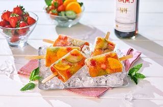Pimm's ice lollies