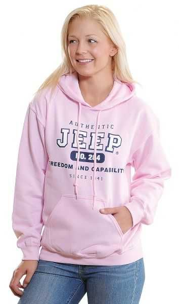 Jeep Clothing Authentic Jeep Sweatshirt in Pink   Quadratec