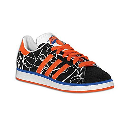 Adidas Campus Ii + Kings Mens  http://allstarsportsfan.com/product/adidas-campus-ii-kings-mens/?attribute_pa_size=8&attribute_pa_color=black1-orange-blue-sld