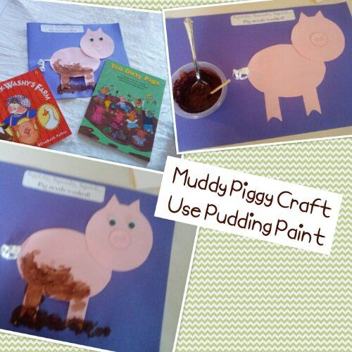 Muddy Piggy Paint using Chocolate Pudding and some other goodies you have around the house!