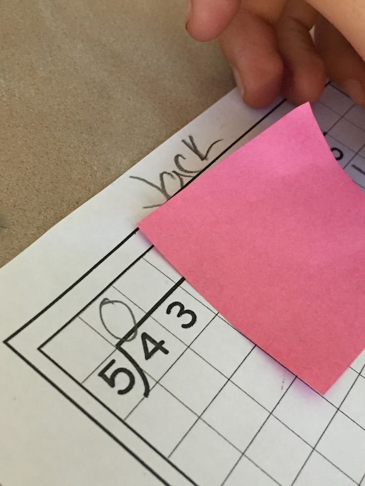 Fabulous in Fifth!: Using Sticky Notes for Long Division