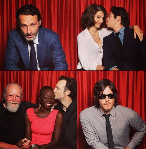 Some of The Walking Dead cast, bottom left is just adorable.