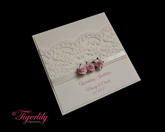 Luxury handmade wedding invitation sample quotfloraquot for Luxury handcrafted wedding invitations
