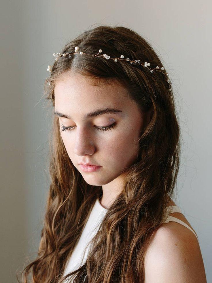 Bridal Hair Wreath | Wedding Hair Vine | Pearl Hair Vine | Wedding Hair Piece | Crystal Hair Wreath | Boho Hair Vine [Ilse Hair Wreath] by DavieandChiyo on Etsy https://www.etsy.com/listing/244993025/bridal-hair-wreath-wedding-hair-vine