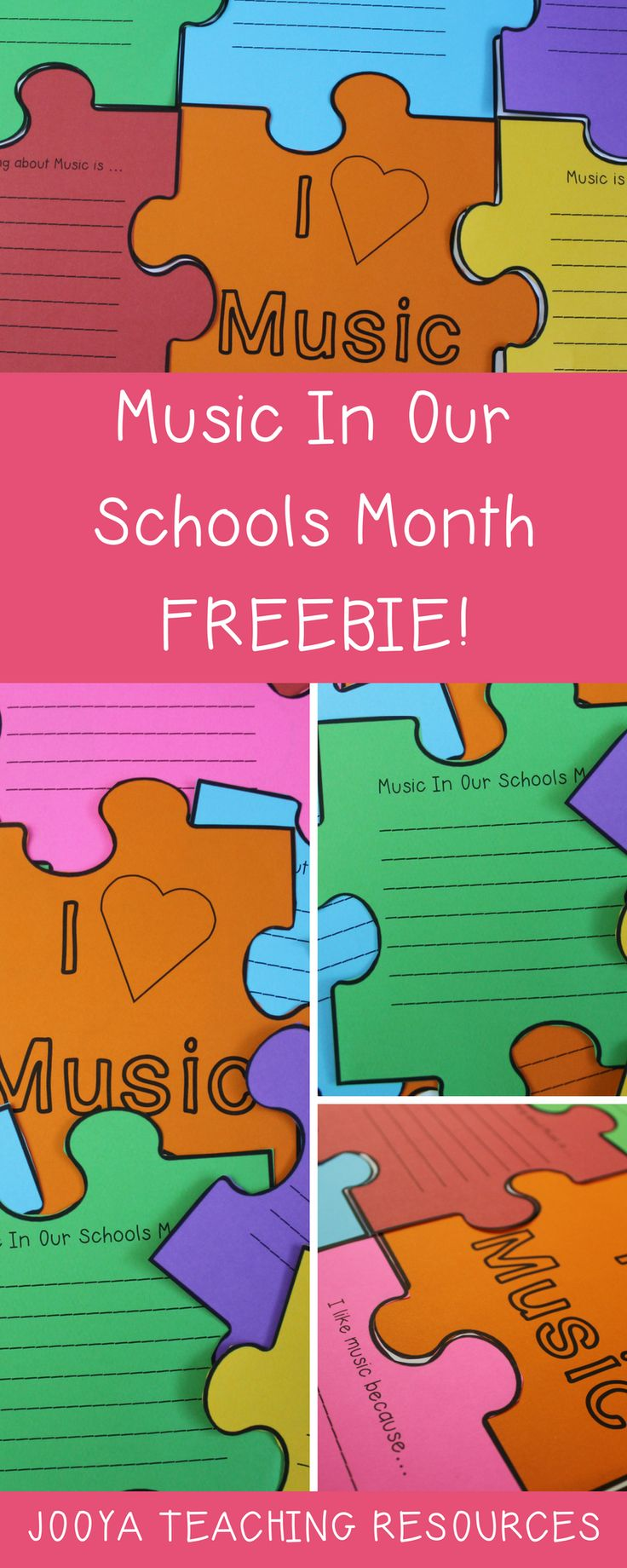 Try this FREE Music In Our Schools Month printable activity. This lesson idea will be fun for your student's to complete and use for Bulletin Board classroom displays. Click to download this FREE resource for all ages.