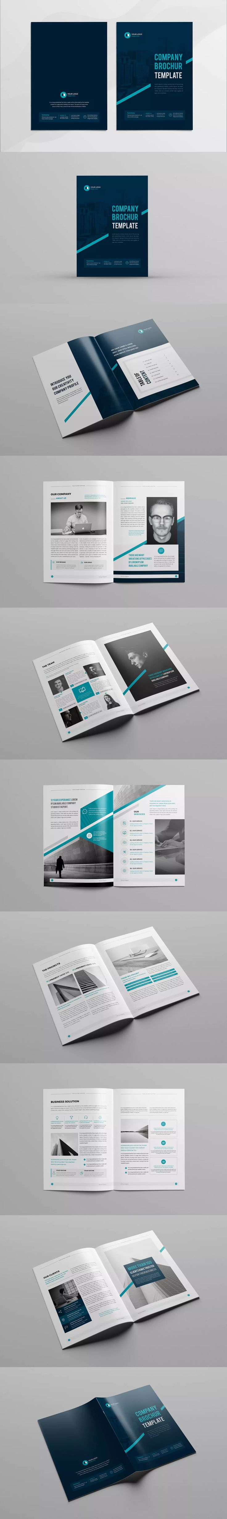 Company Profile Template InDesign INDD- A4 16 Pages