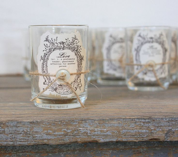 Candle votive favors or bridesmaid gift