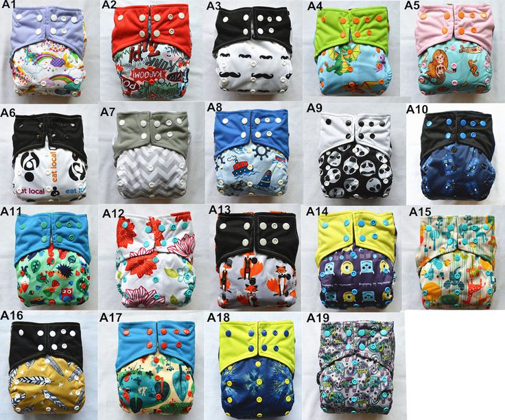 6/lot U Pick AIO Reusable Washable Cloth Diaper Nappy Sewn Charcoal Insert Night #Unbranded