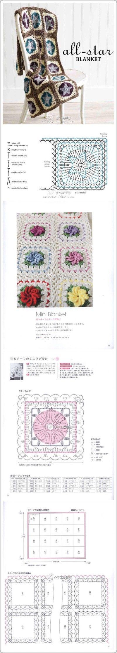 1377 best MANTAS ❇ images on Pinterest   Crochet motif, Crochet ...