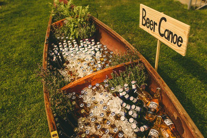 Boho wedding beer canoe. YES! Country Garden Cotswolds Wedding By Miki Photography