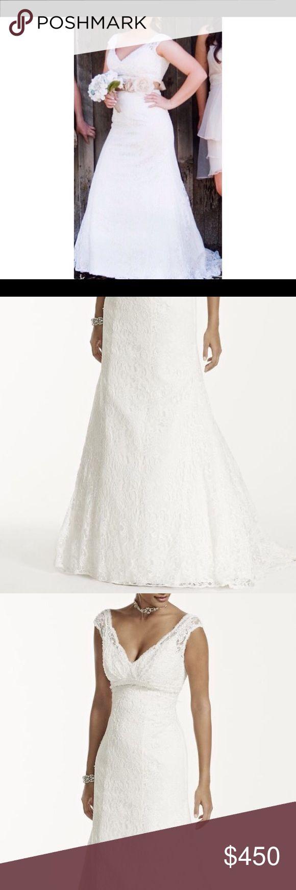 Davids bridal wedding dress Originally $800 dollars. Currently in preservation kit, no defects. davids bridal Dresses Wedding