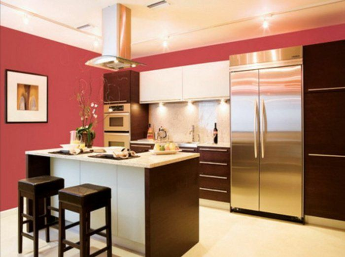 25+ beste ideeën over Farbgestaltung küche op Pinterest - Tapeten - rote kuche gelbe wand