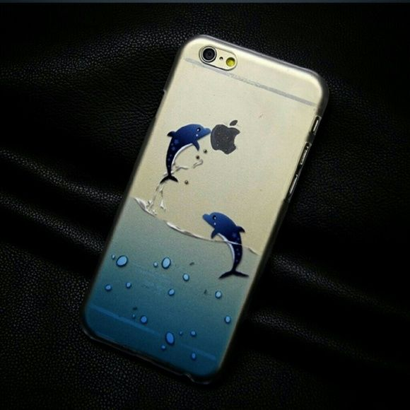 Dolphin case Hard and clear dolphin case. Perfect for an iPhone. 5 5s 6 4.7 plus. My price is firm. Accessories Phone Cases