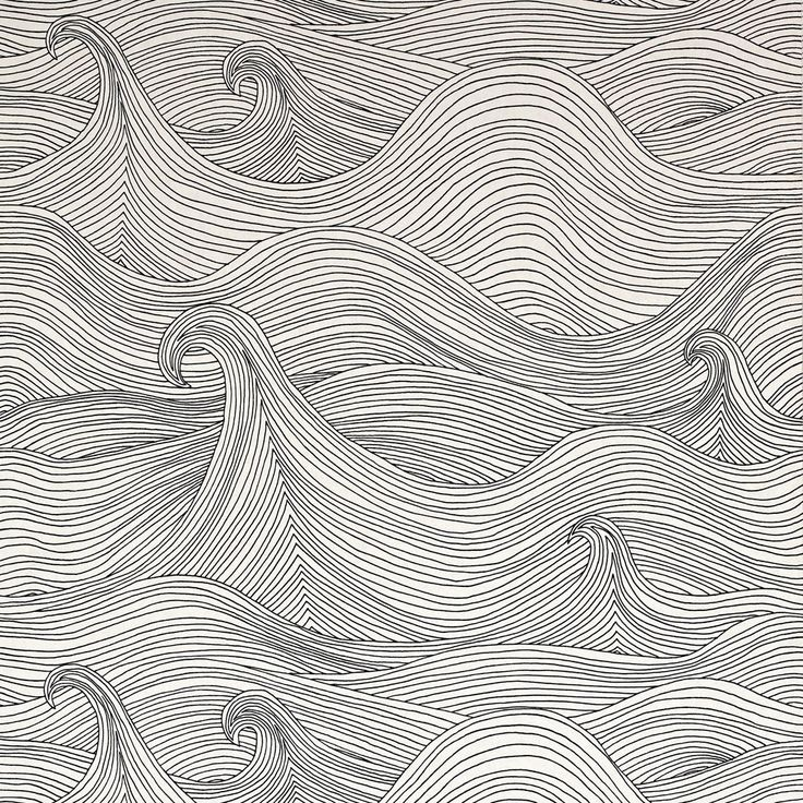 Image of seascape wallaper winter decor wallpaper pinterest - Farrow and ball nantes ...