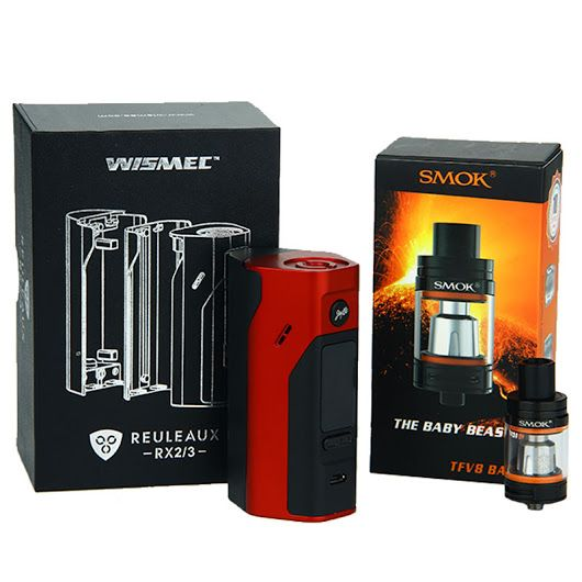 WISMEC Reuleaux RX2/3 Mod with SMOK TFV8 Baby Beast Tank - The Reuleaux with the TFV8 Baby with new re-designed bottom air-slots, air chamber and drip tip. – Urban Vape Store