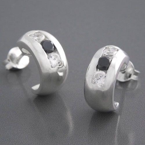 Creolen Silber Zirkonia aus 925 Sterlingsilber.
