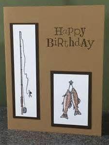 Stampin' Up Handmade Fishing Birthday Card