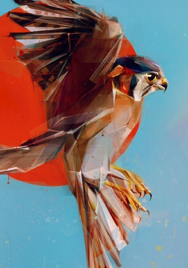 Flying Birds by Denis Gonchar