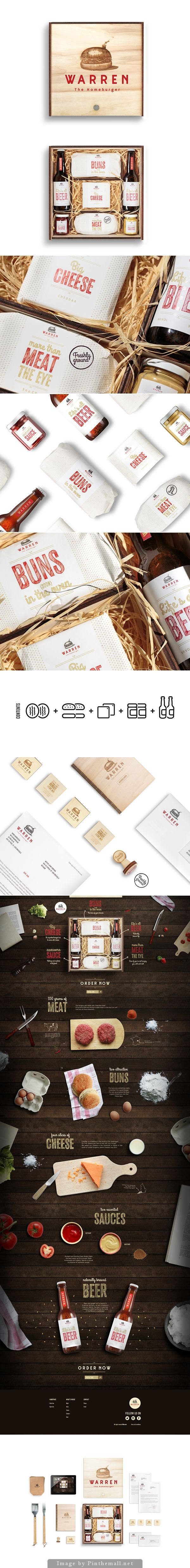 It's hamburgers for lunch after seeing this creative Warren: The Homeburger #packaging by Adrian Duchateau on Behance curated by Packaging Diva PD