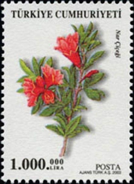 Pul: Pomegranate (Punica granatum) (Türkiye) (Definitive Postage Stamps, 2003…