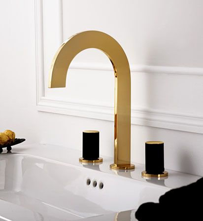 Best Photo Gallery For Website Sleek and skinny golden faucet