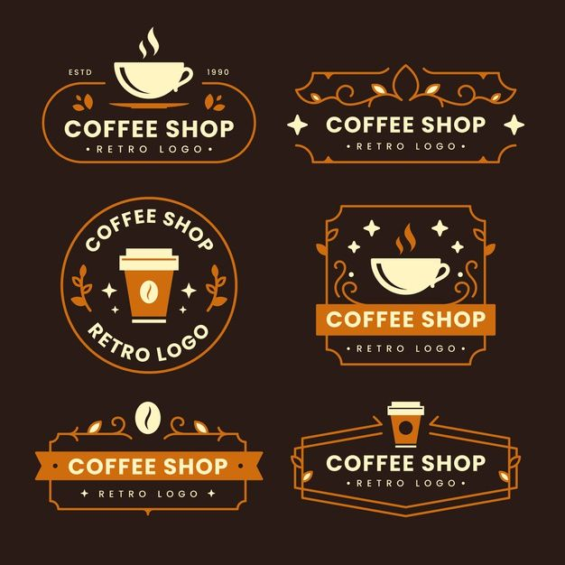 Download Coffee Shop Retro Logo Collection For Free Em 2020 Com