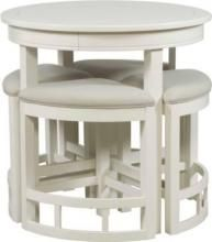 The Mirren Harbor Round Counter Table Creates A Casual Area In Any Room.  The Rounded Wedge Counter Stools Nest Under It (sold Separately As A Set Of  Four ...