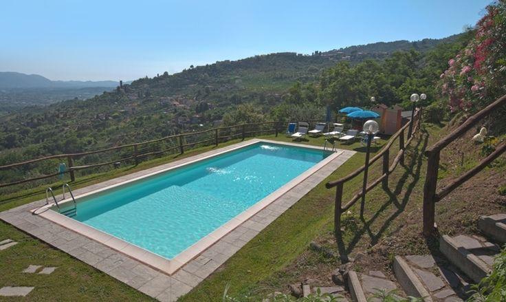 The private pool of Casa Uva, Borgo Marina, Tuscany