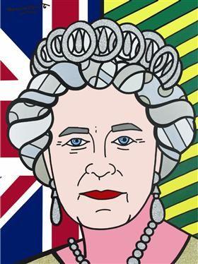 Queen Elizabeth II - Romero Britto