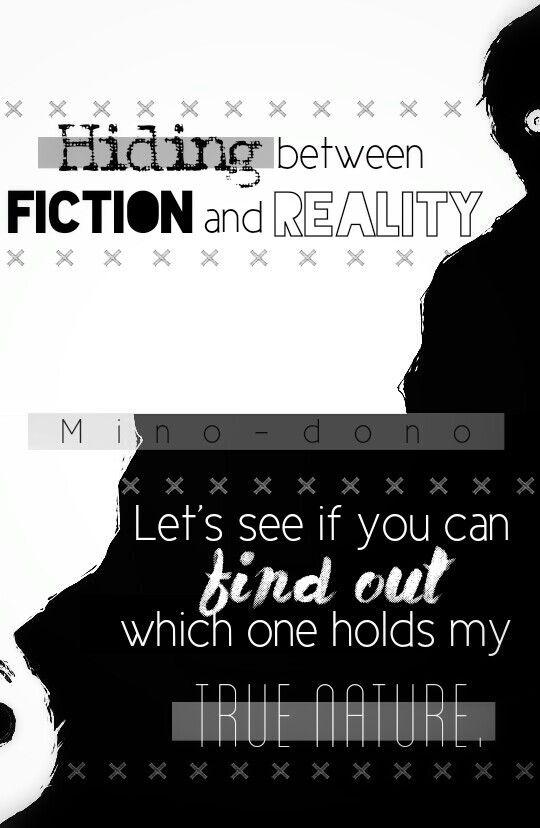 Escondido entre ficção e realidade Vamos ver se você pode descobrir qual contém a minha verdadeira natureza